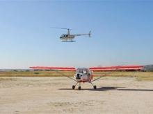 Avión ULM y Helicóptero