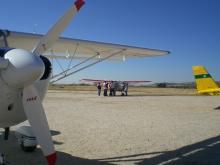 Aviones ULM en aeródromo