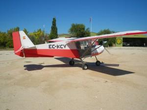 Avión de escuela de vuelo